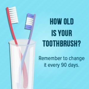 menjajte redovno četkicu za zube